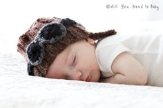 Newborn Aviator Helmet  by AllYouNeedIsPugShop, $32.00 - NEW from the All You Need is Baby line - #baby #newborn #infant #newmom #newbaby #babyfashion #babystyle #babyhat