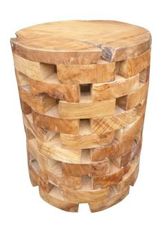 Brown Teak End Table by A&B Home on @HauteLook