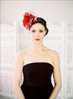 Hope and Grace - Wedding Blog #wedding #bride #bridal accessories #headwear #headpiece #vintage #flower #britannia #red www.hopeandgrace.co.uk