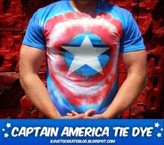 Need to make this for Matt Captain America Tie Dye Shirt | Community Post: 21 Geeky Projects Fit For A Superhero