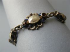 Antique Austro Hungarian pearl and enamel bracelet.