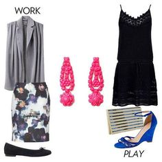 love the neon earrings {cute outfits for work + play}