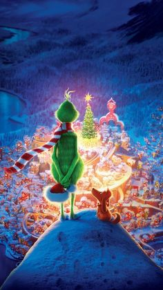 Wallpaper Iphone Disney - The Grinch Animation 2018 Ultra HD Mobile Wallpaper - The Grinch, Grinch Christmas, Disney Christmas, Vintage Christmas, Christmas Mood, Christmas Ideas, Christmas Lights, Funny Christmas, Gold Christmas