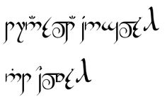Hobbit , Dwarf, and Elvish Rune Generator - you type in the English and this site generates in the rune you select. Fun!