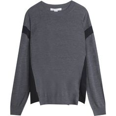 ALEXANDER WANG Merino Jumper ($326) ❤ liked on Polyvore featuring tops, sweaters, alexander wang, alexander wang top, alexander wang sweater, merino wool sweater and jumpers sweaters