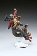 Winter Fun- A bronze sculpture by Mark Hopkins 12x10x8