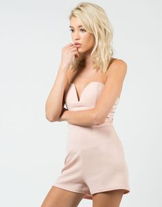 Plunging Sweetheart Romper