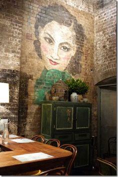Dining room at Mr. Wong, Modern Chinese restaurant, Sydney