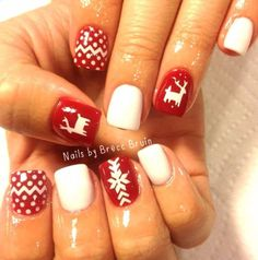 White |  Ugly Sweater DEER Nail Decal | Ugly Sweater Nails | Christmas Nails | Christmas Nail Designs | Holiday Nail Art | Winter Nails | Nail Decals | Nail Art   Shop Nail Decals  weloveglitterdesign.com