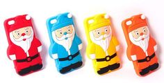 iPhone 5/5S - Cute 3D Christmas Santa Soft Case in Assorted  Colors - Thumbnail 1