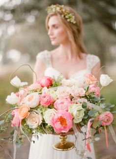 Heirloom wedding inspiration with Southern charm. Greer G. Photography