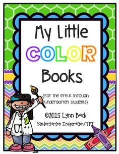 This product includes ten little books, each focusing on a different color. The colors included are: red, orange, yellow, green, blue, purple, pink black, brown and gray.