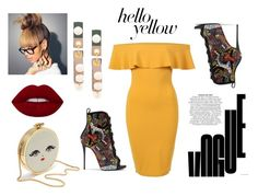 """Hello Yellow"" by rasheeda-moore ❤ liked on Polyvore featuring Pilot, Giuseppe Zanotti and Marni"