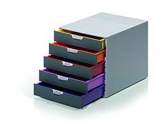 Durable 760527 Schubladenbox (Varicolor) 5 Fächern farbiger Ablauf: Amazon.de: Bürobedarf & Schreibwaren