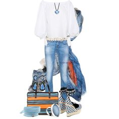 #162 - Casual Blues by elke-koscher on Polyvore