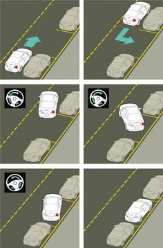 Driving: What are some parallel parking tips? Taking test tomorrow! Driving Teen, Driving Safety, Driving School, Driving Rules, Parallel Parking Tips, How To Parallel Park, Driving Test Tips, Drivers Ed, Learning To Drive