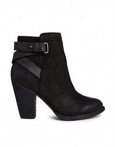 1fdc70df134 Aldo Salazie Leather Heeled ankle boots Black