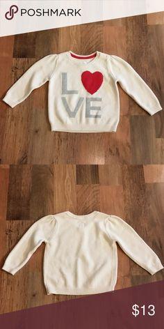 6cb63493bf0 NWOT GAP Baby Love Heart Sweater NWOT GAP Baby French Vanilla(Cream) Love  Heart