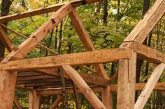You Can Own This Beautiful Hand Hewn Timber Frame Modeled After Thoreaus Cabin At Walden Pond