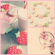 #pink #strawberry #love #floral
