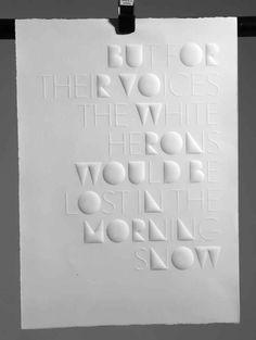 But for Their Voices - Letterpress by Eli Kleppe [Haiku: Fukuda Chiyo-ni] Haiku, Type Design, Book Design, Print Design, Impression 3d, Uv Lack, Blog Design Inspiration, Paper Artwork, Design Graphique