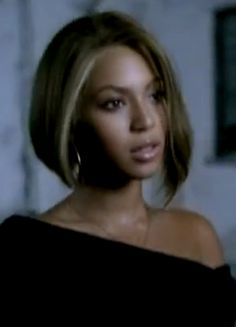 Beyonce's bob hairstyle from 'Me, Myself and I' video in 2003!