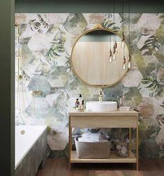Enhance Your Senses With Luxury Home Decor Tropical Bathroom Decor, Botanical Bathroom, Modern Bathroom Decor, Bathroom Interior Design, Home Interior, Bad Inspiration, Bathroom Inspiration, Beautiful Houses Interior, Style Deco