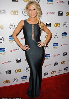 Real Housewife: Gretchen Rossi donned a maxi dress and side ponytail
