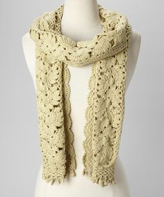 Take a look at this Soft Green Crocheted Scarf by Simone Layne on #zulily today! $25 !!