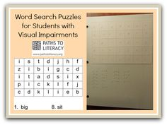#Braille word search puzzles are a great way for young readers to practice their skills!