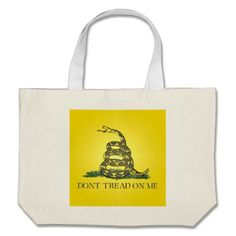 Don't Tread On Me Canvas Bags