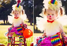 The world's most adorable clown costume EVER! Here is a step by step instructions on how to make this clown tutu costume. Tutu Costumes, Costume Clown, Halloween Costumes, Costume Ideas, Halloween Cupcakes Easy, Tutu Tutorial, Coffee Crafts, Party Themes, Party Ideas