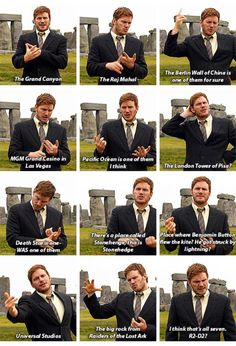 Dwyer names off the 7 Wonders of the World. Parks and Recreation.Andy Dwyer names off the 7 Wonders of the World. Parks and Recreation. Best Tv Shows, Best Shows Ever, Favorite Tv Shows, Lito Rodriguez, Movie Quotes, Funny Quotes, Parks And Recs, Andy Dwyer, Parks Department