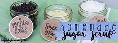 This homemade sugar scrub will be your new best friend! Also, read all about the benefits of sugar scrub, and why I love it so much! | read more at happilythehicks.com #OrganicFaceMoisturizer Salt Face Scrub, Sugar Scrub For Face, Coffee Face Scrub, Sugar Scrub Homemade, Sugar Scrub Recipe, Sugar Scrubs, Salt Scrubs, Latte, Benefits Of Sugar Scrub