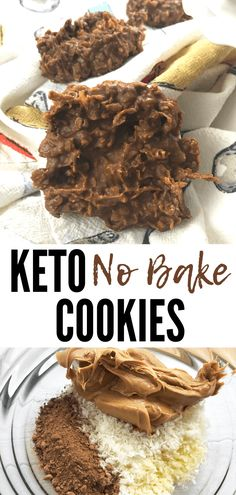 Easy Keto No Bake Cookies with Cocoa & Peanut Butter is a delicious keto no bake desserts recipe. This keto cookies recipe you can keep in the freezer for on-the-go snacking. #themommymix #ketonobakecookies #keto #ketorecipes #ketodiet #ketogenic #ketogenicdiet