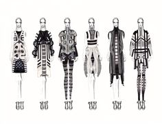 Fashion Sketchbook - fashion illustrations; collection lineup; fashion student portfolio // Jc Munoz
