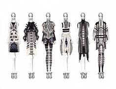 Fashion Sketchbook - fashion illustrations; collection lineup; fashion student portfolio // Jc Munoz