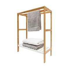 Towel Rail with Bamboo Frame