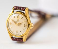 Woman's watch Omega gold plated ladies watch Swiss by SovietEra