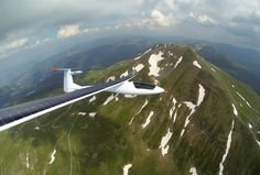 #SunseekerDuo flying over the summit of Monte Cimone, #Italy.