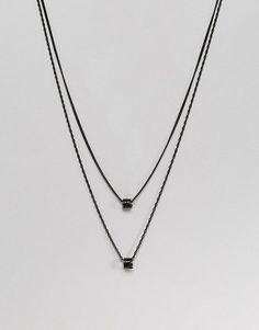 Mister Necklace In Black