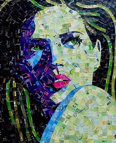 Decluttering your junk mails, old papers, calendars, any recyclable material has never been this fun. Sandhi Schimmel Gold is creating some amazing and vibrant mosaic portraits. Adorable portraits ...