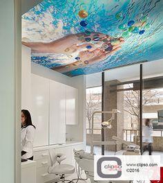 Smile Designer Dental Office Arlington, VA. Materials: Standard 705 S printed fabric. Installer: Zebby Sulecki, Inc. Independent Rep: S&S Resources, Inc.