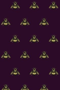 {Print & Pattern} Napoleon Bee Velvet by Timorous Beasties #pattern #purple #velvet