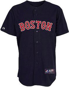 Majestic Men's Boston Red Sox Replica Alternate Navy Jersey #giftofsport