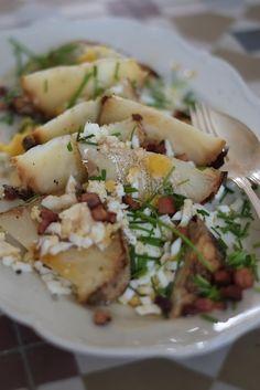 Långbakad rotselleri med ägg och brynt smör