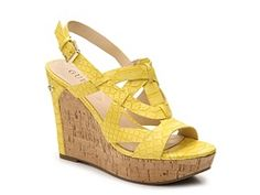 Guess Tabetha Wedge Sandal WHITE $60