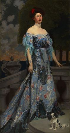 Miss Anne Mills Archbold 1902-1903  Frederick MacMonnies  Born: New York, New York 1863 Died: New York, New York 1937 oil on canvas 87 1/4 x 48 in. (221.6 x 121.9 cm) Smithsonian American Art Museum