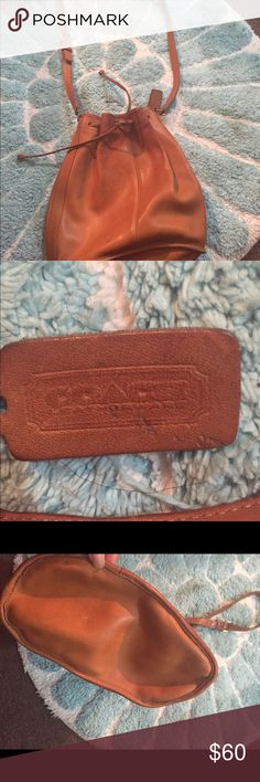 Coach drawstring shoulder/cross body bag. Coach drawstring cross body/ shoulder bag. Great quality leather, which Coach is known for. This bag has been used and it shows, but all it needs is some Coach cleaner and it will look brand new. PRICE IS FIRM!!! Coach Bags Crossbody Bags