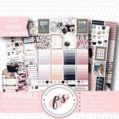 Wander Free Full Weekly Kit Printable Planner Stickers (for use with E – Plannerologystudio